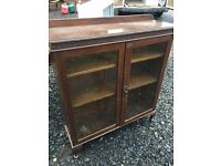 Victorian glass fronted bookcase,