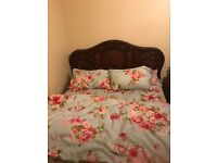 Kingsize bed and wardrobe with dressing table