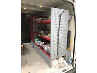 Bott metal van racking from a Swb Medium high Transit