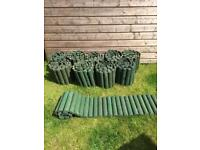 Garden border edging 10 rolls wooden logs