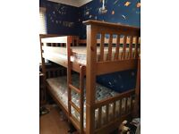 Solid wood bunk beds excellent condition only 2 years old