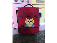 Travelite Children's Backpack Eule 2 Wheel Small Backpack Red