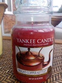 Yankee Candle - Bright Copper Kettles Large Jar (My Favourite Things collection) very rare