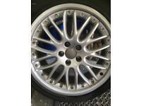 Audi Alloy wheels and tyres x 4 genuine