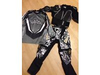 Motocross protective wulfsports jacket, Trousers and over Top, age 6-7