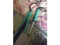 Hair straightener & curling tongs