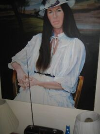 original oil painting of irish lady by jim dawson