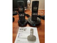 2 BT PHONES WITH BUILT IN ANSWER MACHINE