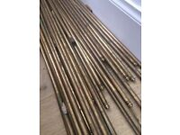 Brass carpet rods and brackets