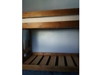 solid pinewood bunk bed