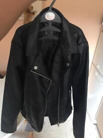 Black leder jacket
