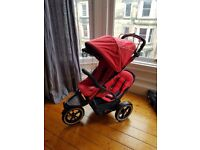 Phil & Teds Navigator 2.0 Double Buggy Red and Black Excellent Condition