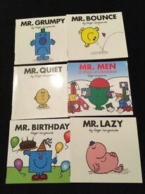 Mr men books set of 6