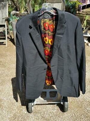 LAWRENCE PUCCI Mens Jacket Suit Jacket Black 1968 Vintage Henry Shapiro, used for sale  Shipping to India