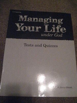 ABeka Managing Your Life Under God Tests/Quiz Teacher Key 11/12th gr Homeschool