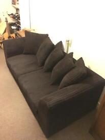 Three-seat Sofa (chocolate)