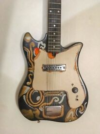 1960s TEISCO Vintage DEL REY ET-200 Tulip GUITAR (fully working but best FOR PARTS, project)