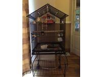 bird cage in a trolley