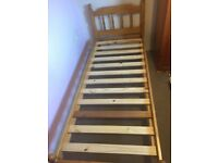 Small single bed (with mattress if wanted)