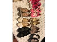 Girls party shoes, pumps and boots sizes 9, 10 and 12