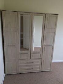 4 Door Wardobe with drawers ex John Lewis