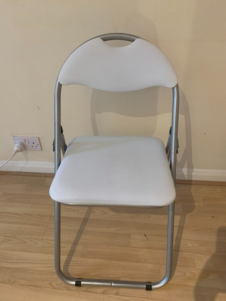 Image of: Office Desk Chair White Folding Argos Home Padded Faux Leather Barely Used In Wandsworth London Gumtree