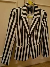 Womans pussy doll palace stripy blazer. Size 10