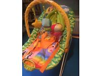 BABY by Chad valley deluxe bouncer Rocker that play music and vibrates