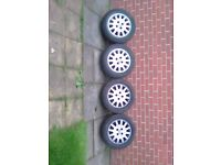 Ford focus alloy wheels with tyers