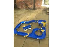 Kids water slide track with boats n figures