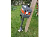 Mariner 2 Light Weight Two Stroke Outboard Motor for Dinghy, Tender in need of Service or Repair