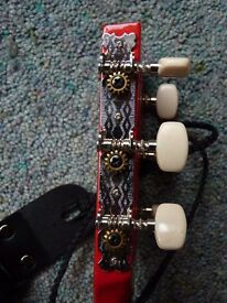 Children's PALMA Starter Guitar. Colour: Red
