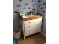 2 nursery white chest of drawers changing unit beautiful