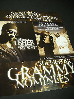 OUTKAST and USHER Grammy Noms 1999 PROMO POSTER AD mint