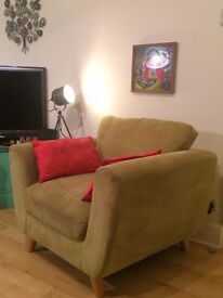 Retro Olive Green Armchair