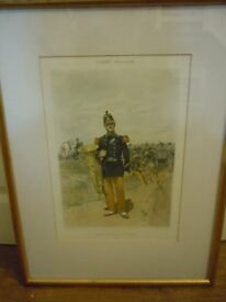 Antique French Army Soldier Musician Print