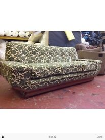 G plan 3 seater and 1 seater, has just been totally reupholstered