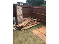 Free wood, planks, old shed panels or simply use for firewood to anyone who will collect