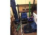 Assorted Fishing Gear, Preston Innovations, Shakespeare, Maver, OffBox, Pole, Pole Support, Bait Arm
