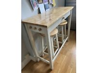 John Lewis kitchen console table and 2 stools