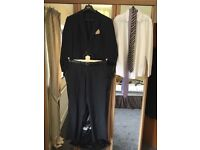 Worn once Dark Grey Suit + Shirt/Ties/Carrier/Belt Ideal Wedding/Formal