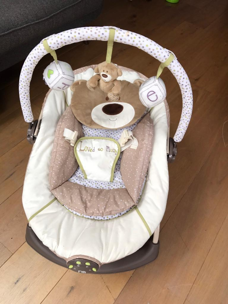 Mothercare musical baby bouncer chair