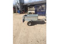 small 4x3 box trailer fitted lights all working new tyres 100 miles ago