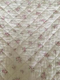 Vintage style bedspread mauve and pink detail SOLD