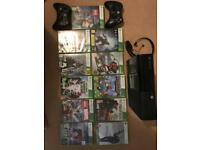 X box 360 with 11 games and 2 controllers