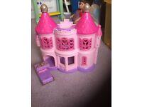 Princess castle with princess