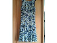 MONSOON DRESS SIZE 10 WALLIS COVER UP SIZE SMALL COBALT BLUE SHOES SIZE 7