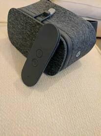 Google daydream VR goggles and remote