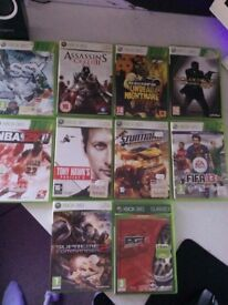 10 Xbox 360 games all of them work