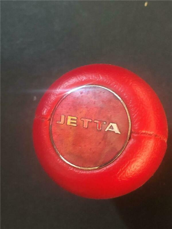 Vintage Volkswagon Jetta Logo gear Shift knob Red Leather  New Old Stock